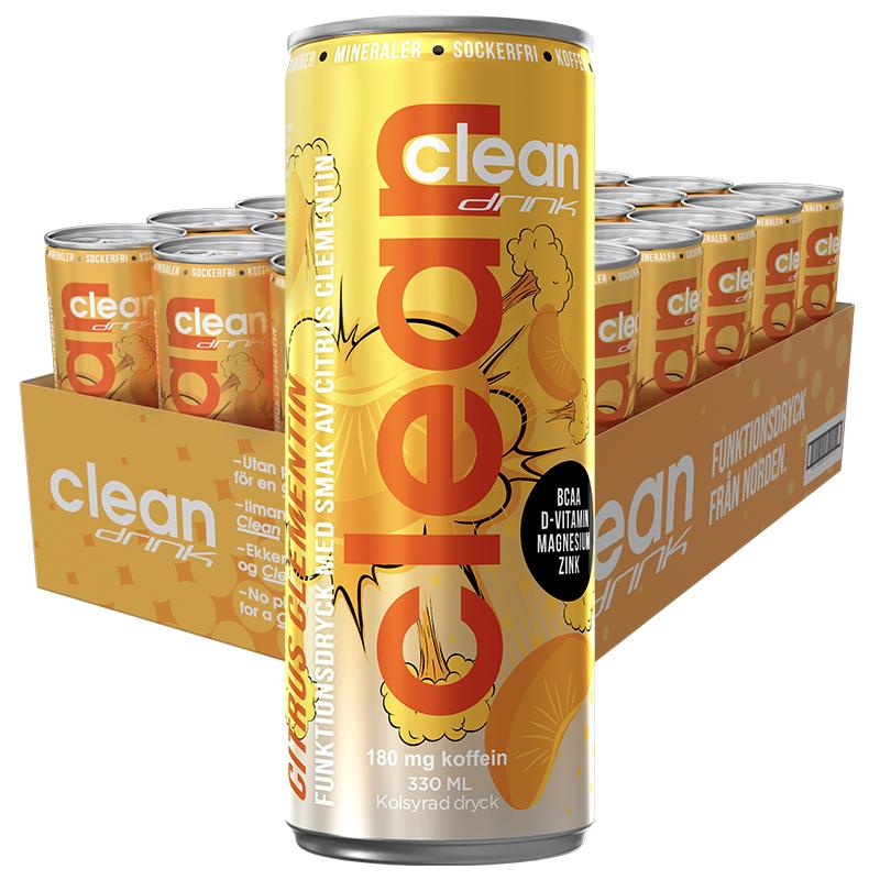 CLEAN DRINK CITRUS CLEMENTIN 33cl x 24st