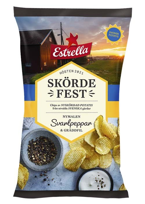 Skördefest Svartpeppar & Gräddfil 250g