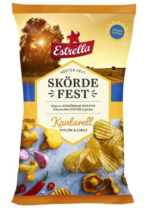 Skördefest Kantarell,vitlök & chili 250g