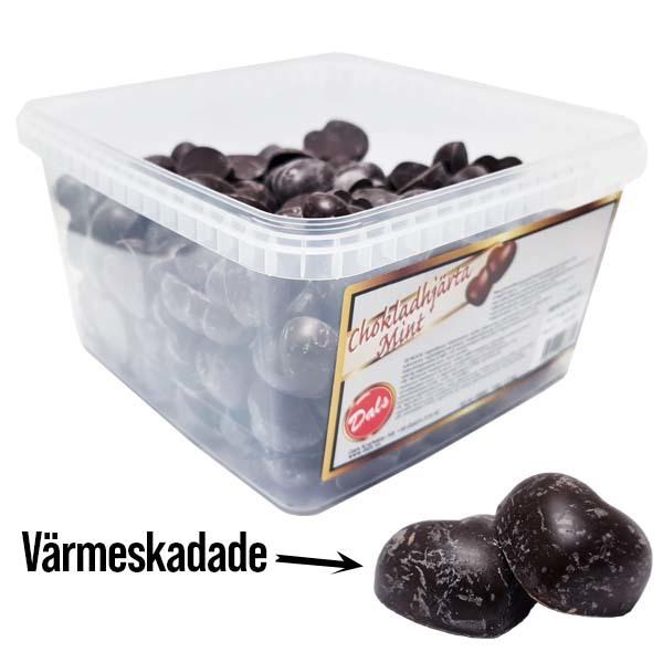 Chokladhjärtan Värmeskadade 1,8 kg