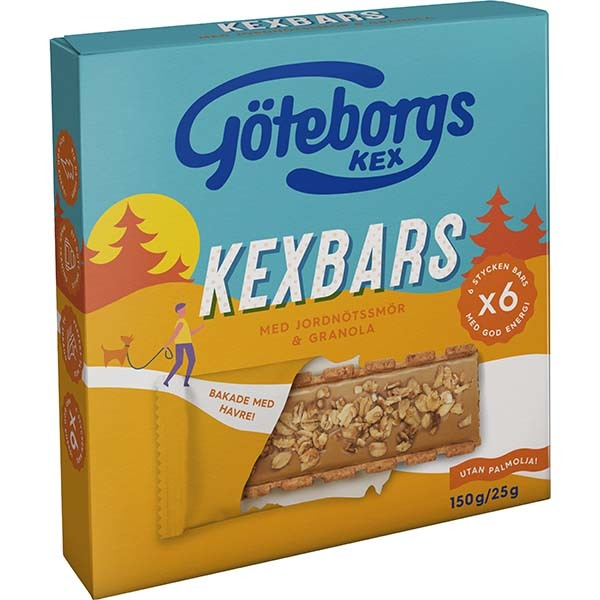 Göteborgskex Kexbar Jordnöt/Granola 150g