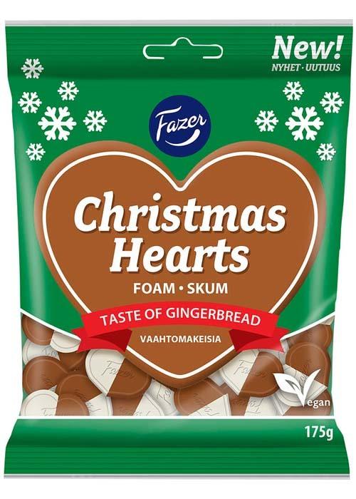 Fazer Christmas Hearts 175g