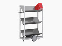 Littbus Book Trolley Mobil 4 – Steel