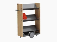 Littbus Book Trolley Mobil 4 – Wood