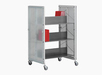 Littbus Book Trolley Mobil 2 – Glass