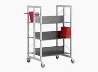Littbus Book Trolley Mobil 2 – Steel