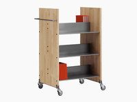 Littbus Book Trolley Mobil 2 – Wood