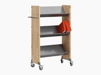 Littbus Book Trolley Mobil 1 – Wood