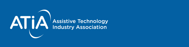 Logotype for ATIA Assistive Technology Industry Association