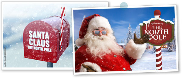 Pictures of Santa Claus at the North Pole