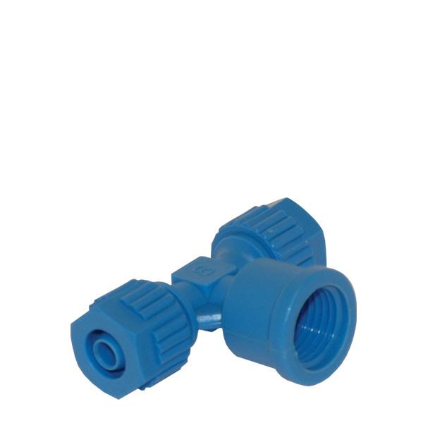 T-koppling Tefen 8xR8invx8 mm