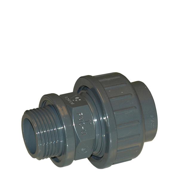 PVC unionsnippel  32xR25 utv