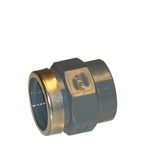 PVC muff limning, invändig gänga och först.ring