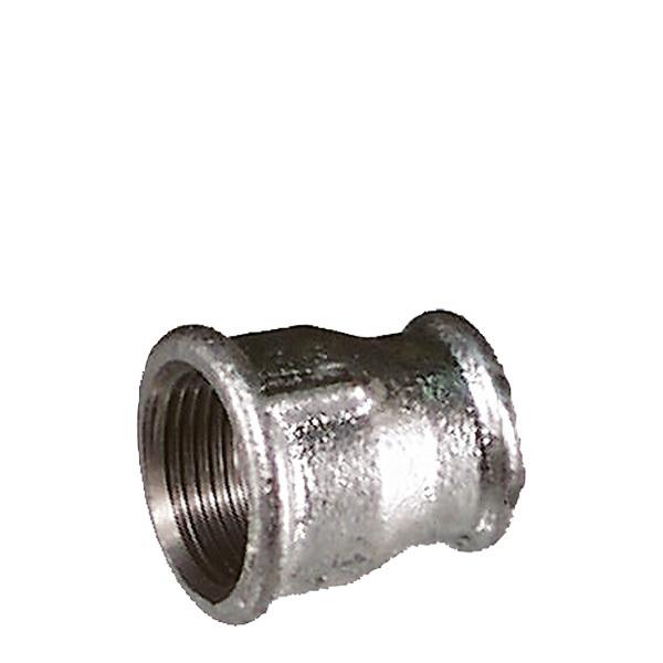 Reducerad muff galvat stål