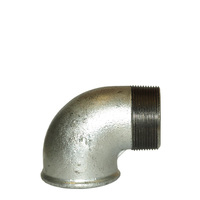 Vinkel galvat stål, inv. x utv. gänga
