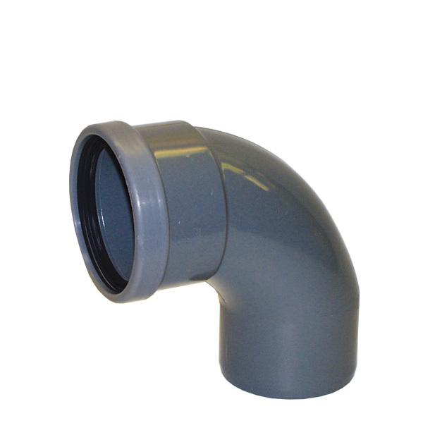 PVC vinkel 88º 110 mm m. muff