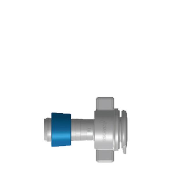 Övergång 16 mm blå ring x R15 inv Frp=100 st