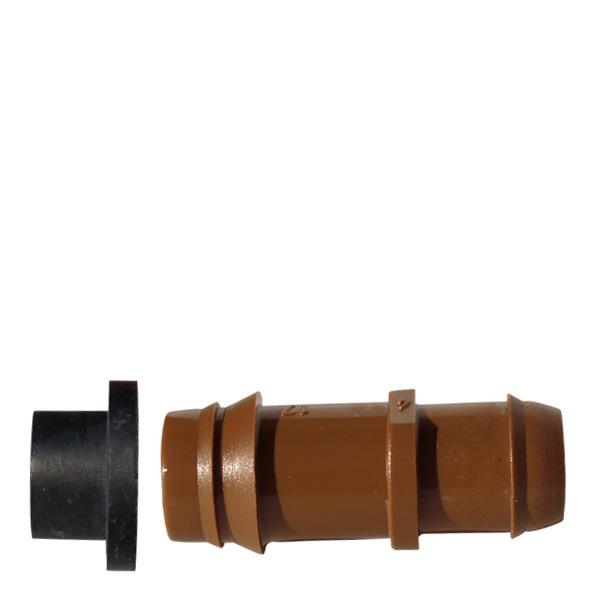 Anslutning med packn 17mm, brun (15,5)