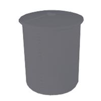Stamlösningskar i svart polyeten