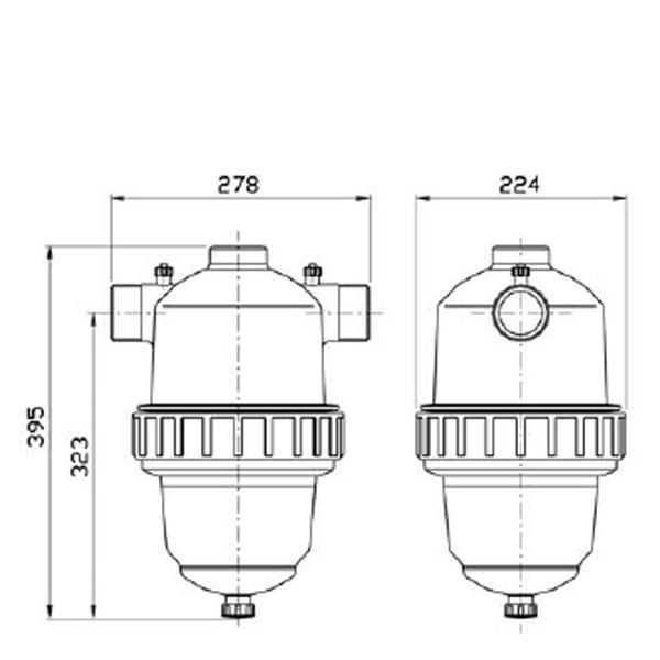 Amiad TAGLINE lamellfilter R50 100 mikron
