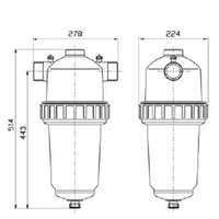 Amiad TAGLINE lamellfilter R50 Super 100 mikron