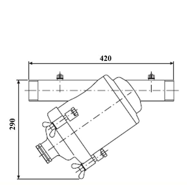 Amiad stål-silfilter R50 100 mikron
