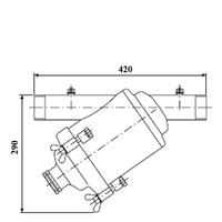 Amiad stålfilter DN80