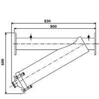 Amiad stål-silfilter DN100 100 mikron (gul)