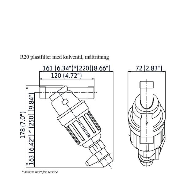 Amiad plastfiler R20