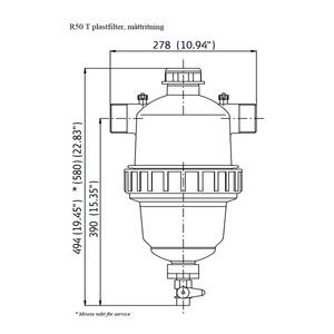 Amiad plastfilter R50 T
