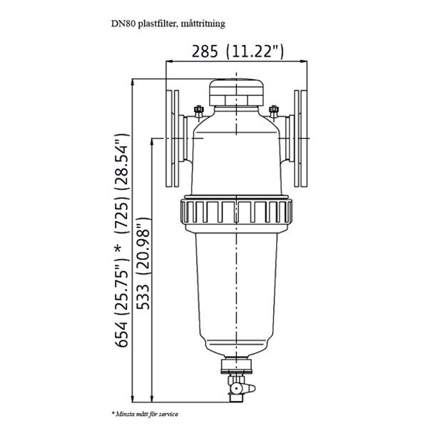 Amiad plastfilter R80T/DN80 TL