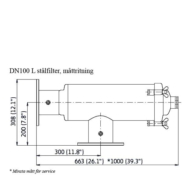 Amiad stålfilter DN100 L