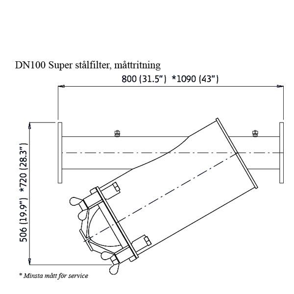 Amiad stålfilter DN100 Super