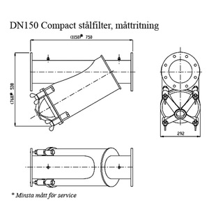 Amiad stålfilter DN150 Compact