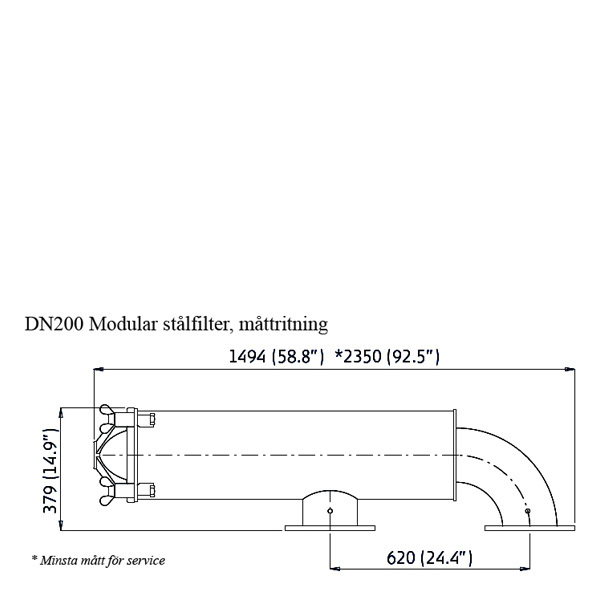 Amiad stålfilter DN200 Modular