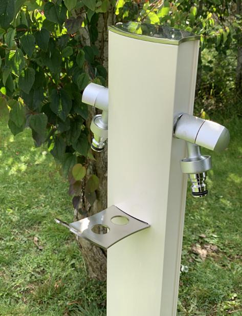 Vattenpost aluminium, vit