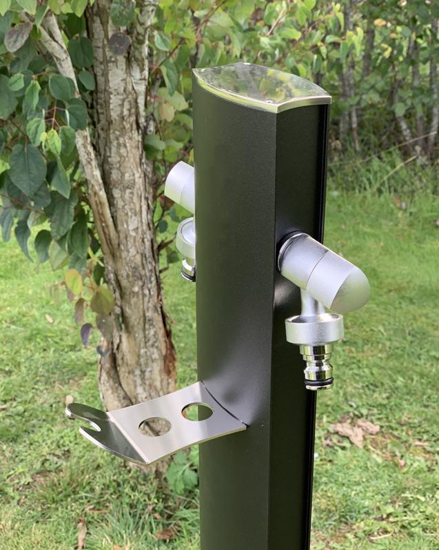 Vattenpost aluminium, svart