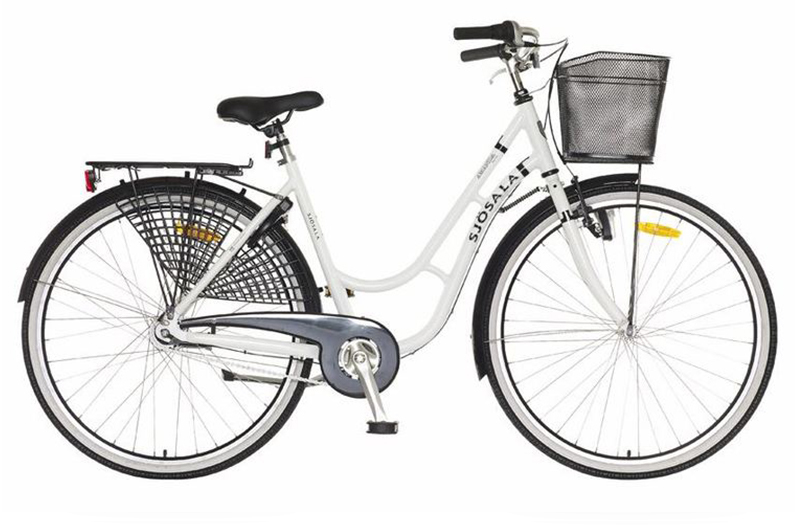 Välj att hyra en vanlig cykel i modellen damcykel
