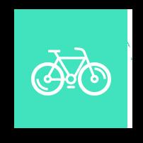 Välj att hyra damcykel, mountainbike eller elcykel