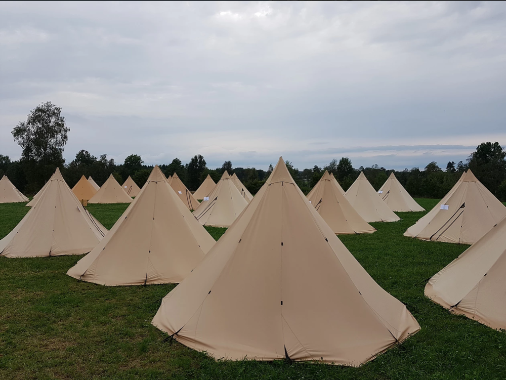 Abrahams camp located in Småland, bike rental