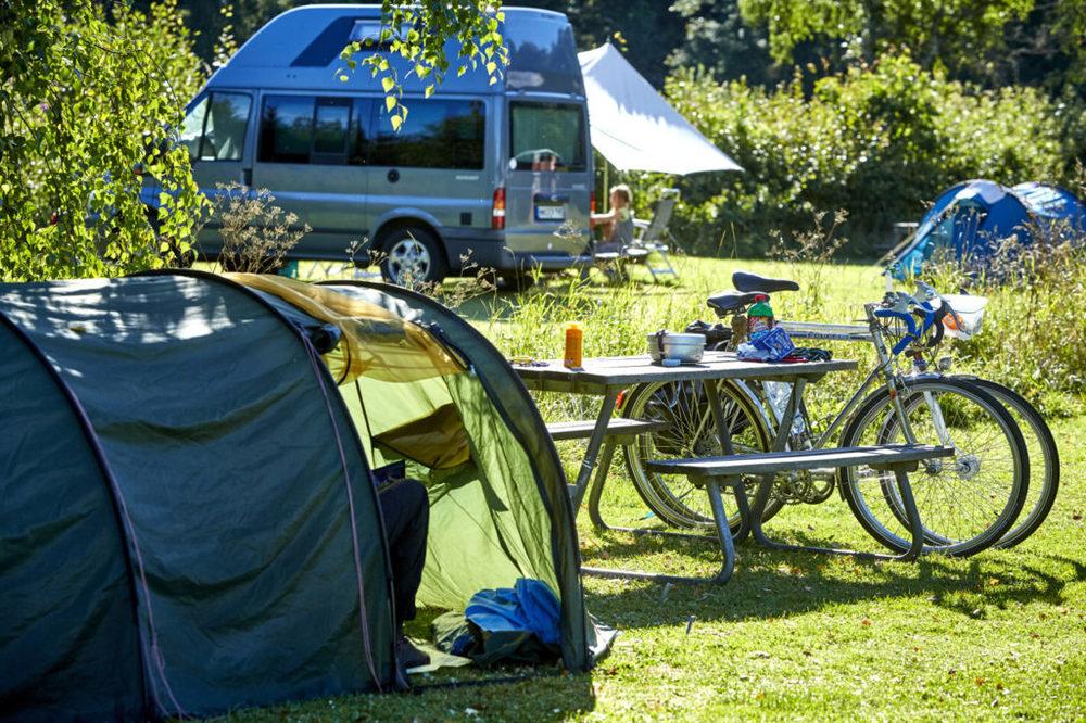 Camping areas around Åsnen