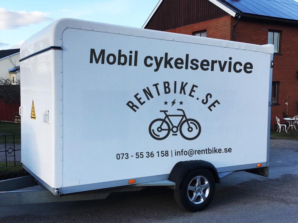 Mobil cykelservice i Växjö kommun. Via mobil cykelservice kan man får cykelservicen gjord hemma.