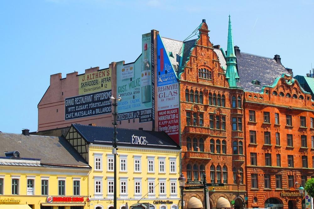 Stortorget nära centralstationen i Malmö.