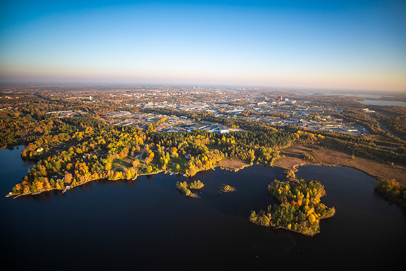 Cycling in Växjö
