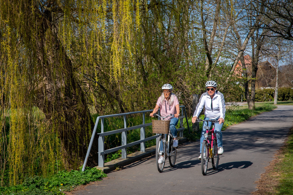 Cycling in Trelleborg.