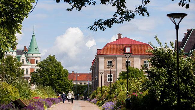 Hyr en cykel i Landskrona centrum.