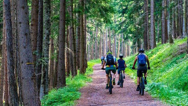 Cykla mountainbike i Örebro.
