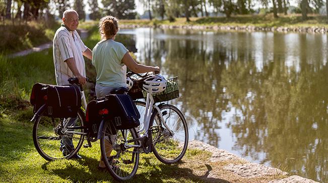 Hyr cykel vid Töreboda, Göta kanal.
