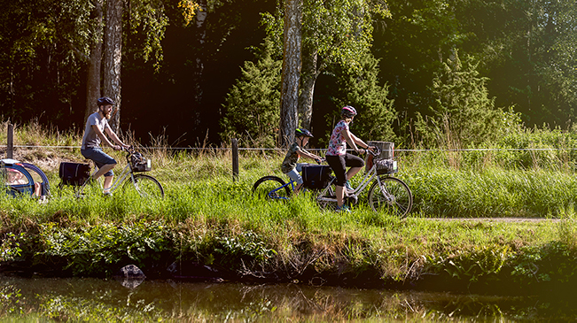 Cykeluthyrning vid Göta kanal, Töreboda.