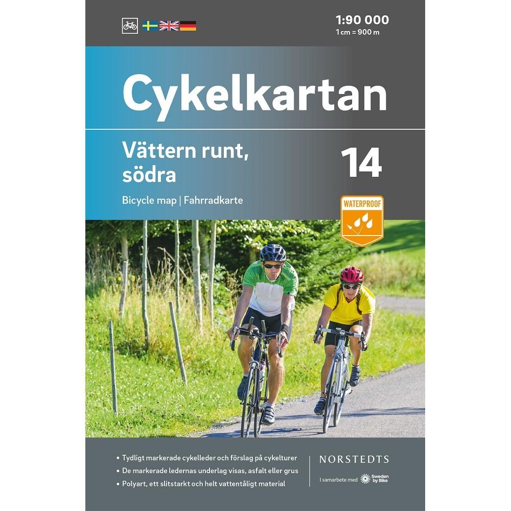 Cykelkartan 14 Vättern Runt - Södra
